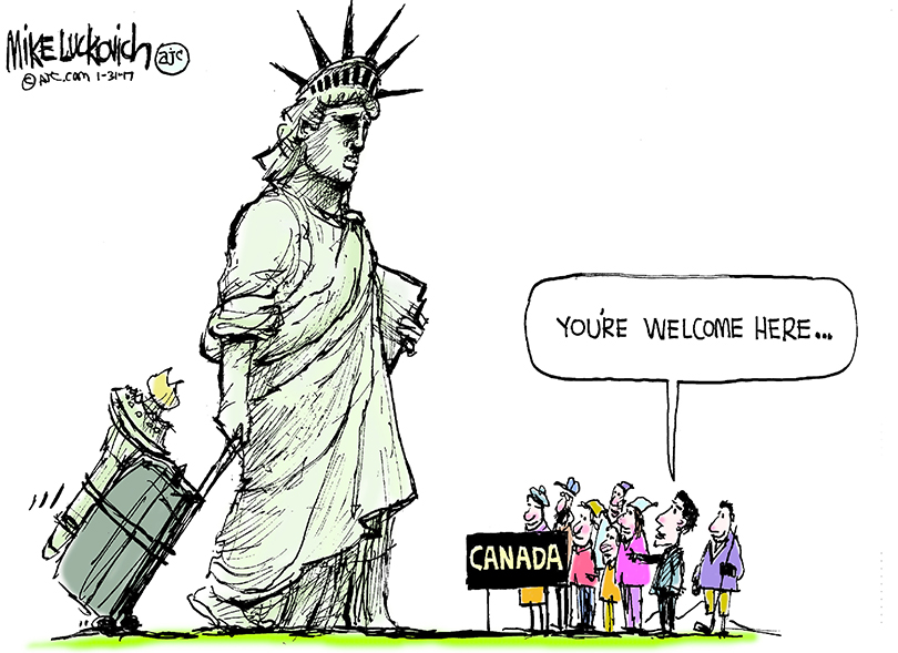 810x589 18 Donald Trump Cartoons Featuring The Statue Of Liberty