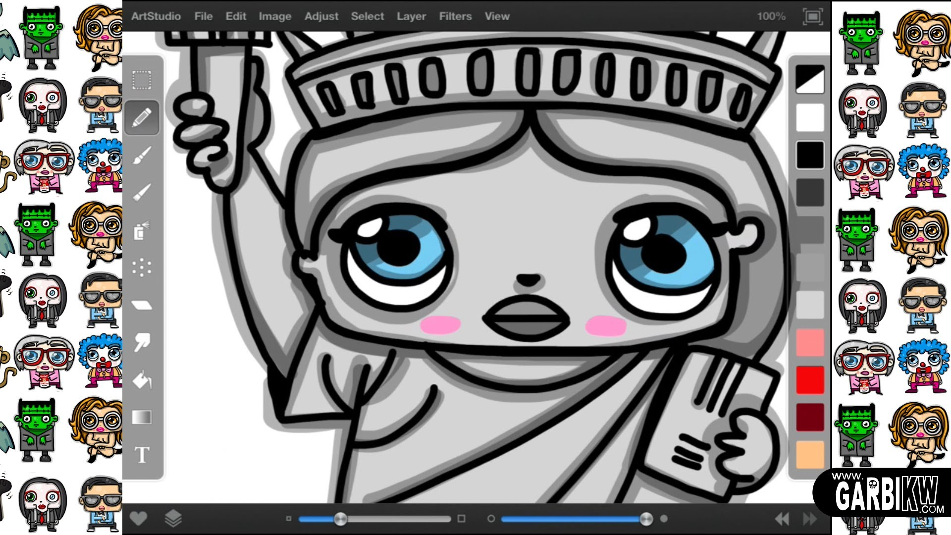 1920x1080 How To Draw A Cartoon Statue Of Liberty