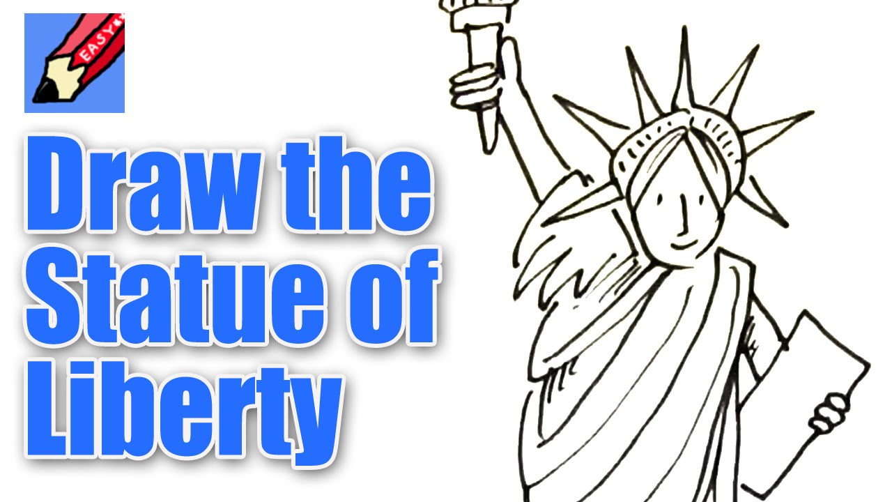 1280x720 How To Draw The Statue Of Liberty Real Easy
