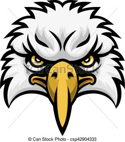 416x470 Eagle Mascot Face. A Cartoon Eagle Bird Character Sports