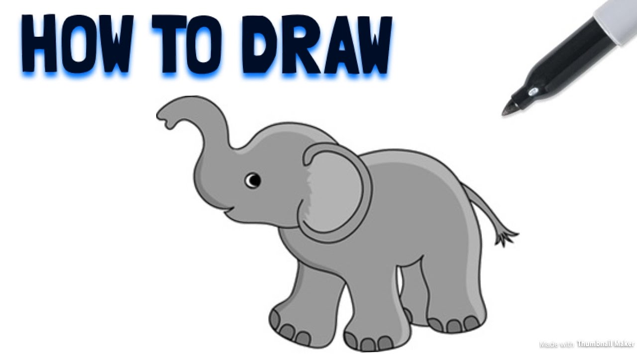 Cartoon Elephant Drawing at GetDrawings.com | Free for personal use ...