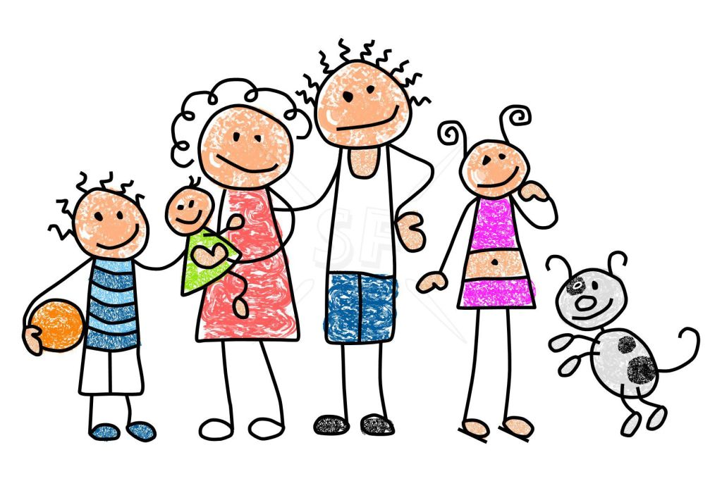 1024x683 Funny Cartoon Drawing Family Picture
