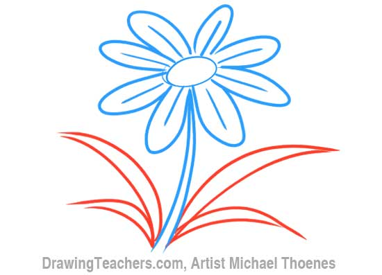 Cartoon Flowers Drawing At Getdrawings Free For Personal Use