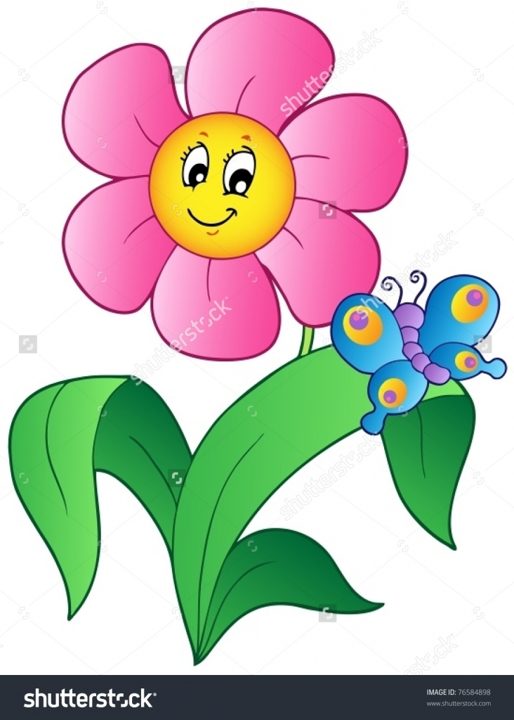 It is a picture of Accomplished Cartoon Flower Drawing