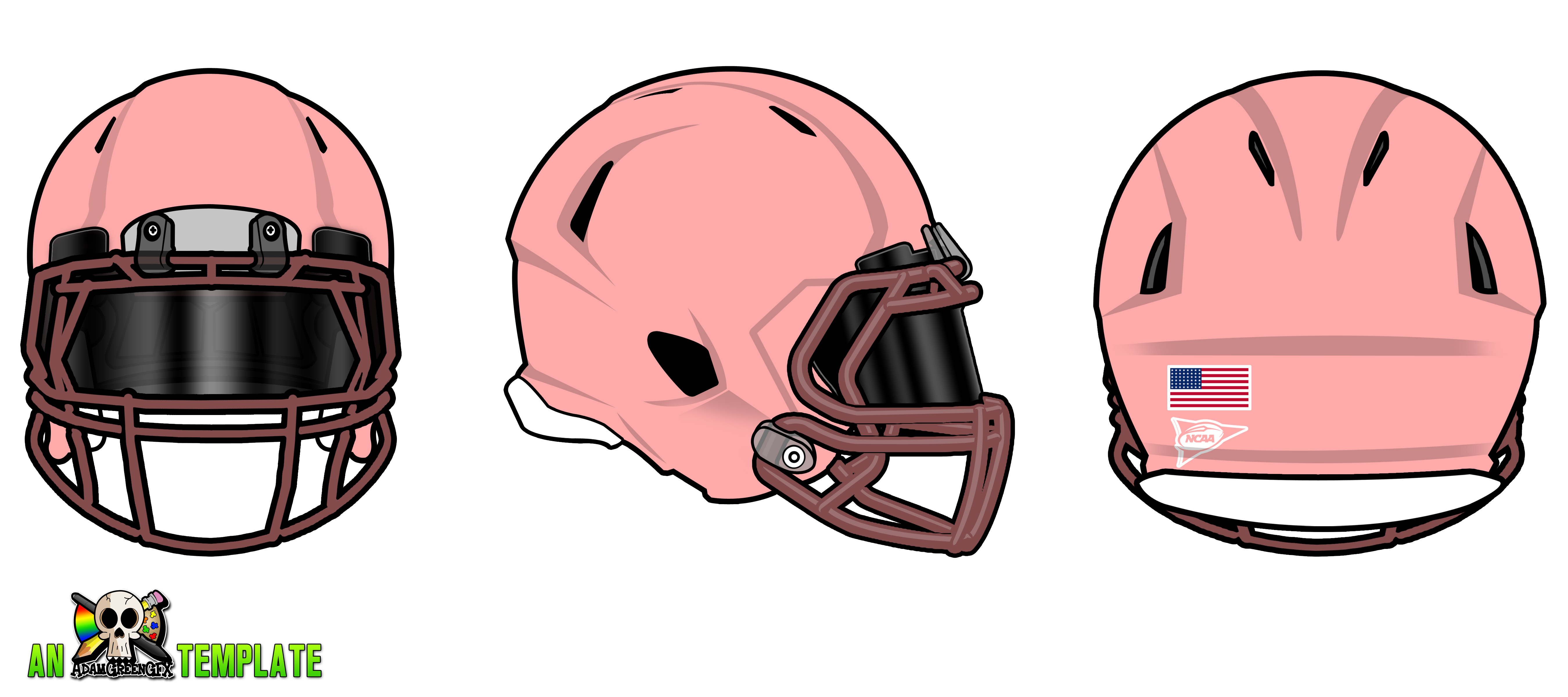 5400x2400 Aggfx Riddell Revo Speed Helmets Template By Adamgreengfx