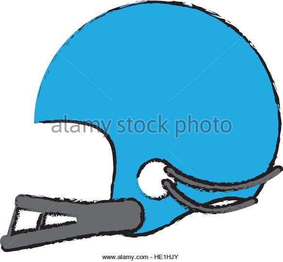 583x540 Drawing American Football Player Helmet Stock Photos Amp Drawing