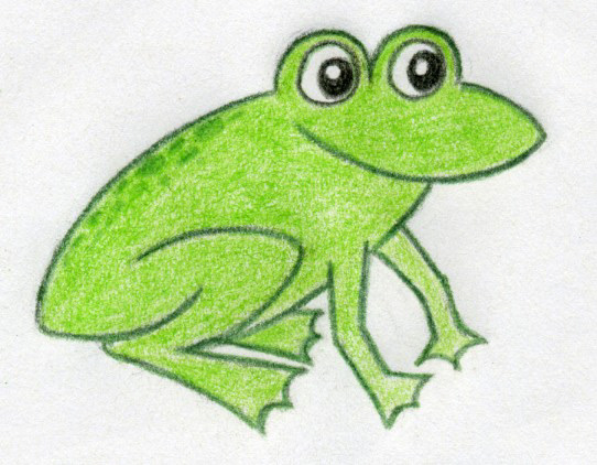 542x422 A Few Cartoon Frog Drawings You Are Going To Love How To Draw