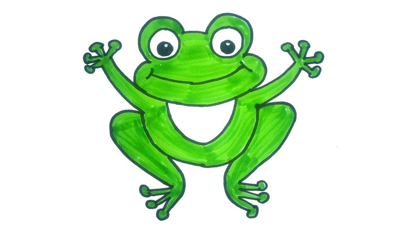 1280x720 Cartoon Frog Drawing How To Draw A Cartoon Frog Easy Step By