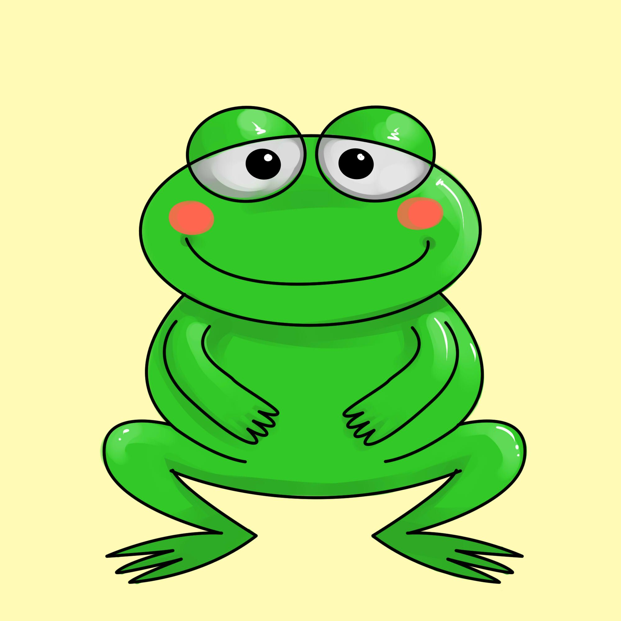 2000x2000 Draw A Cartoon Frog Frogs, Cartoon And Clip Art