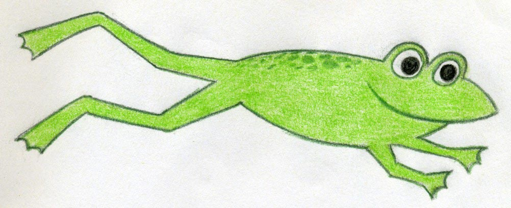 1002x408 Frog Drawings You Are Going To Love