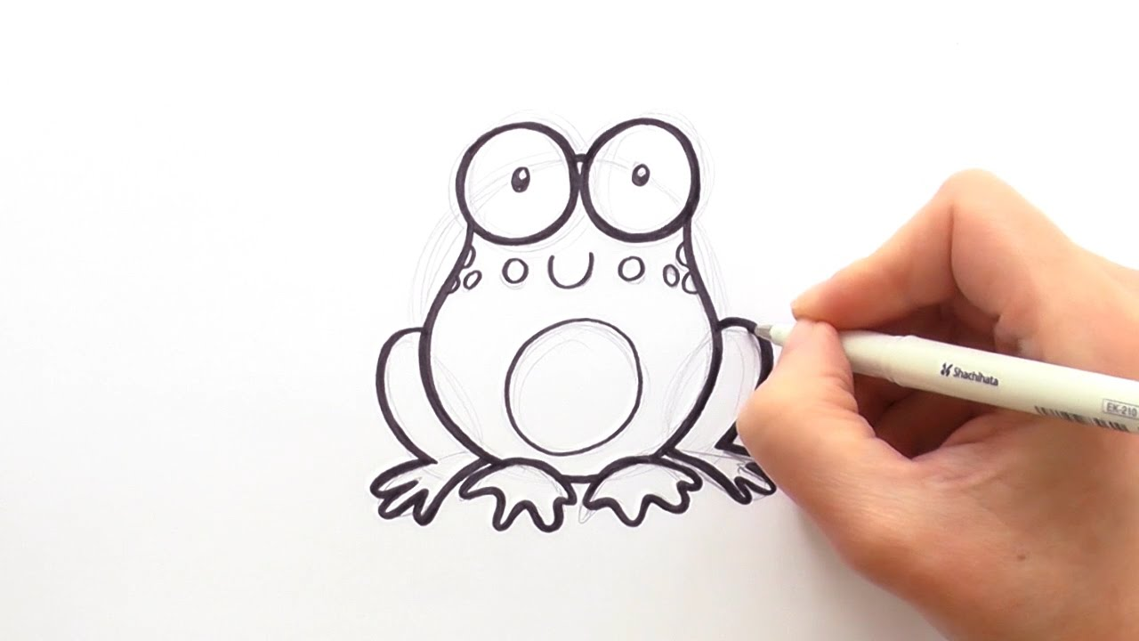 1280x720 How To Draw A Cartoon Frog