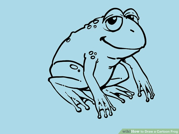 728x546 How To Draw A Cartoon Frog 10 Steps (With Pictures)