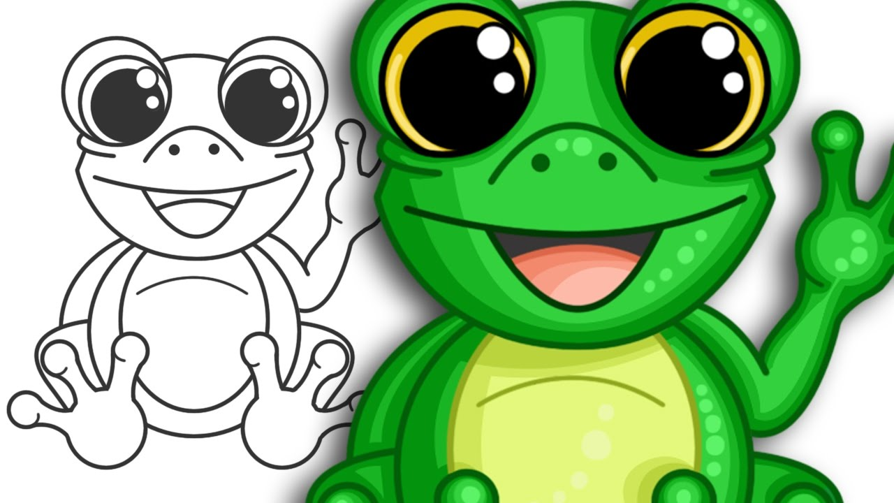 1280x720 How To Draw A Super Cute Frog Step By Step Drawing