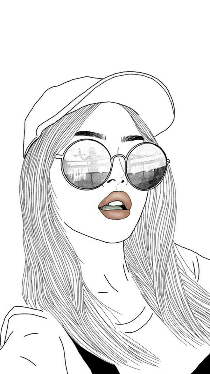 720x1280 Tumblr Girl Drawing
