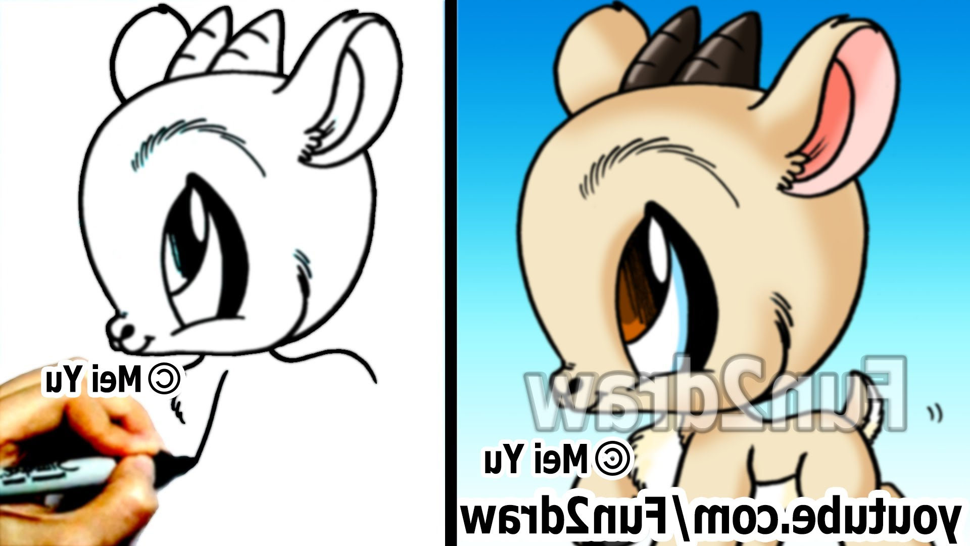 1920x1080 How To Draw Easy Cartoon Animals How To Draw Easy Stuff