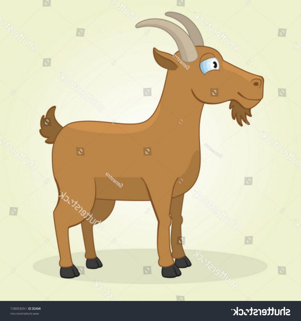 1024x1092 Top Stock Vector Illustration Of Cartoon Goat Drawing