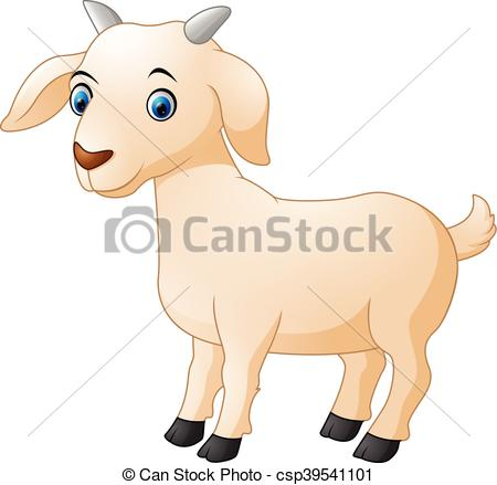 450x439 Vector Illustration Of Cute Goat Cartoon Vector Clipart