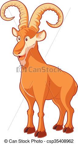 256x470 Vector Image Of The Cartoon Smiling Goat Clip Art Vector