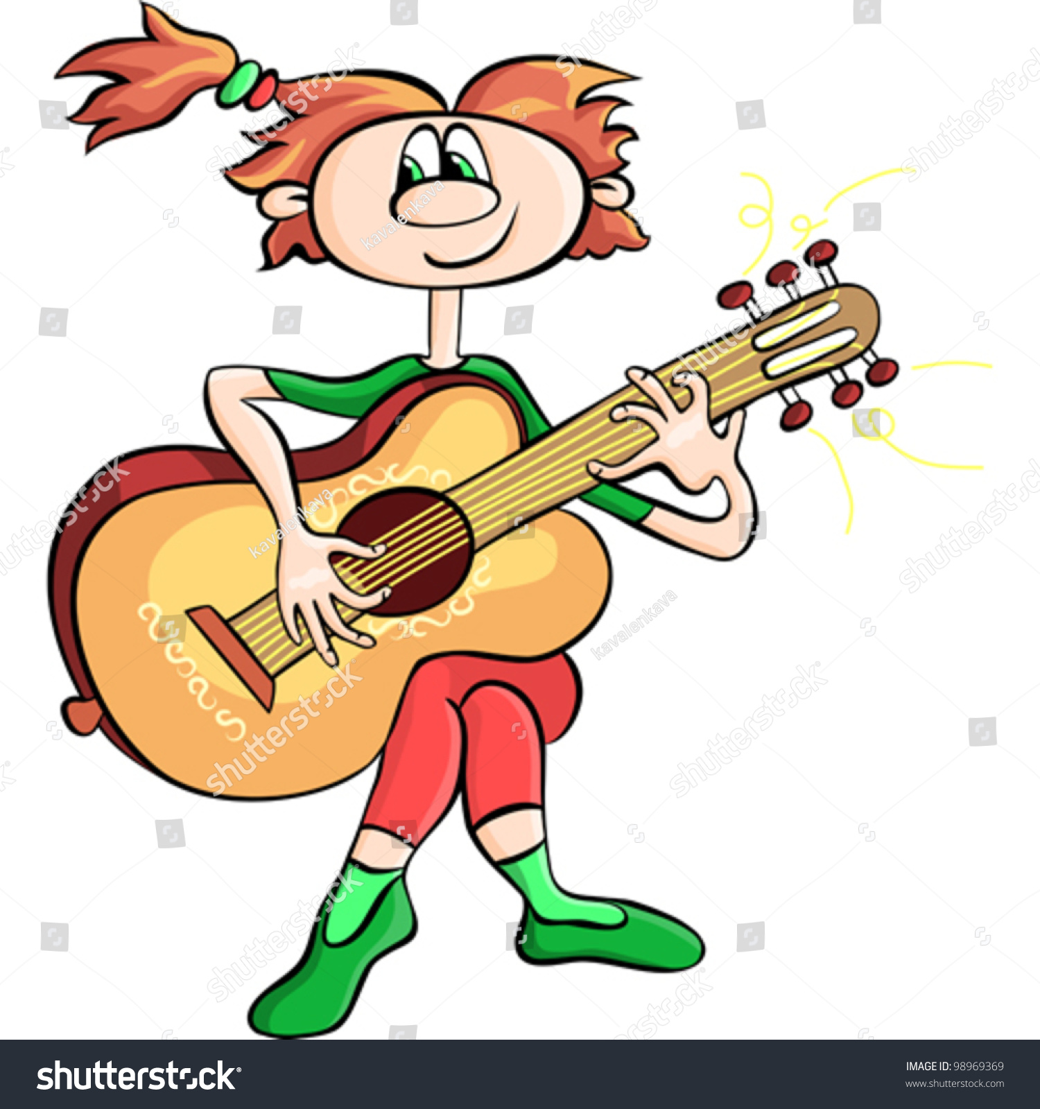 1500x1600 Pictures Cartoon Girl Playing Guitar,