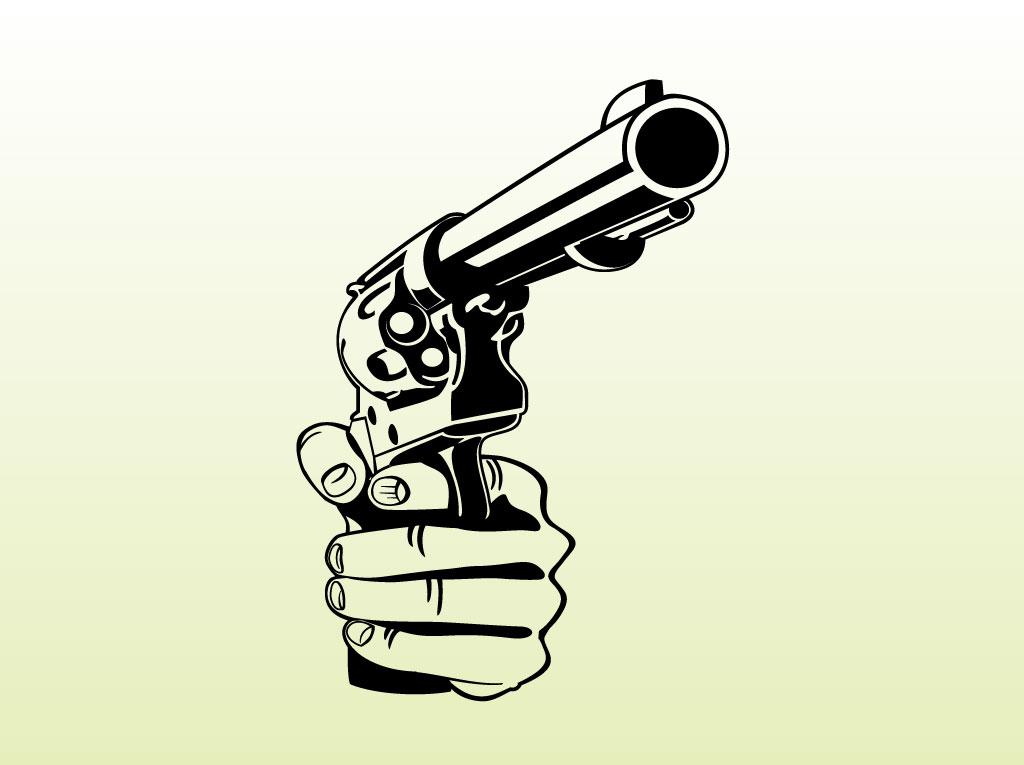1024x765 Aimed Pistol Vector