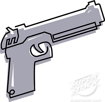 350x340 Gun Drawing Cartoon