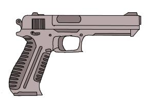 300x200 How To Draw Gun Step By Step