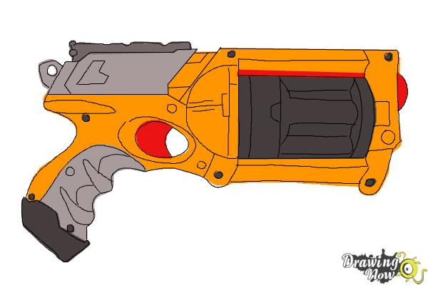 600x400 How To Draw A Nerf Gun