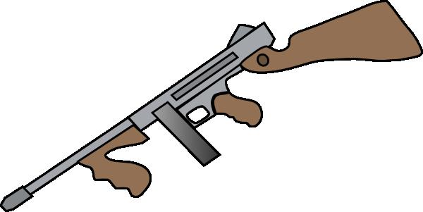 600x301 Thompson Machine Gun Clip Art