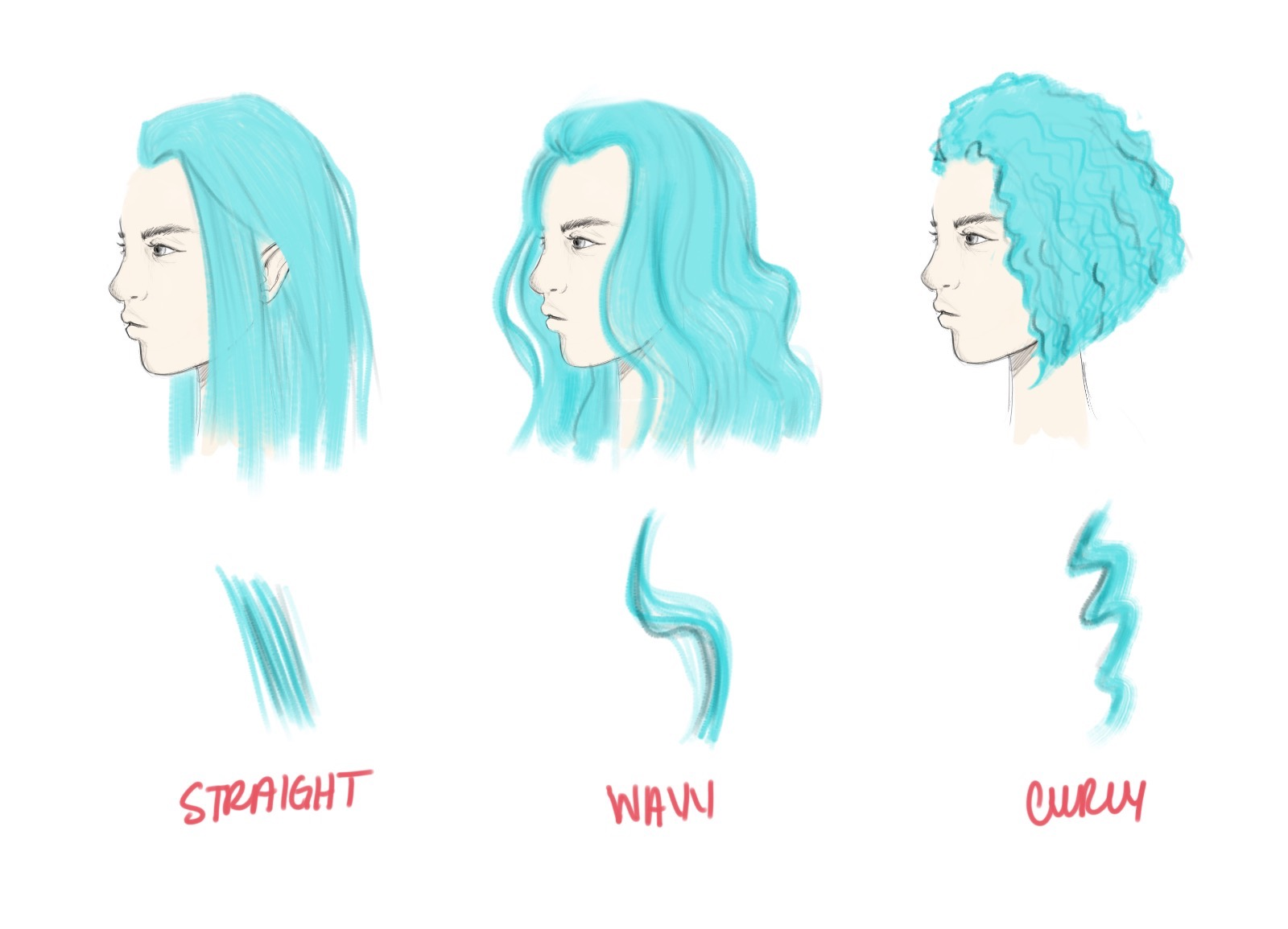 1600x1155 How To Draw Hair Tutorial Step By Step Instructions