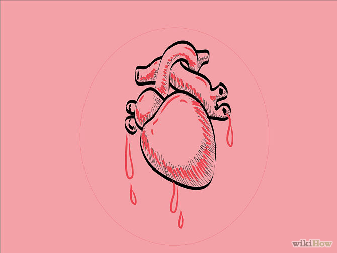 670x503 Draw A Human Heart Human Heart, Drawings And Doodles