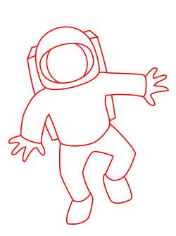 250x336 A Cartoon Astronaut