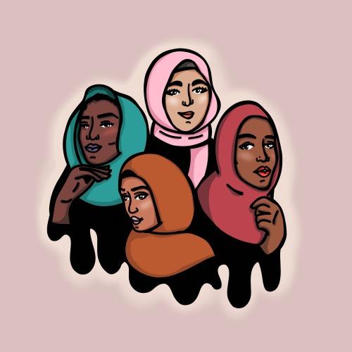 500x500 Hijab Girl Drawing Tumblr
