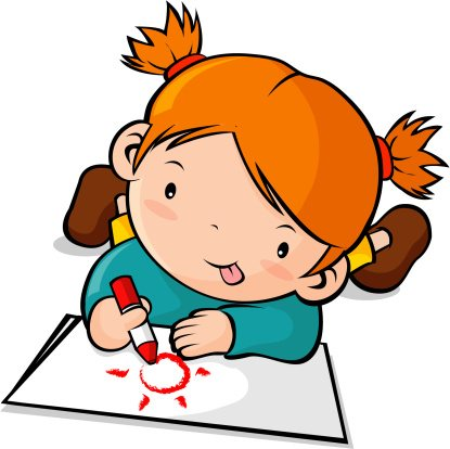 415x414 Kids Drawing Clipart Coloring Page Ideas