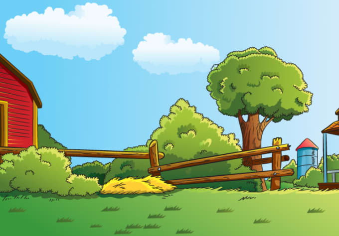 680x474 Draw Any Simple Landscape Background Cartoon Illustration With My