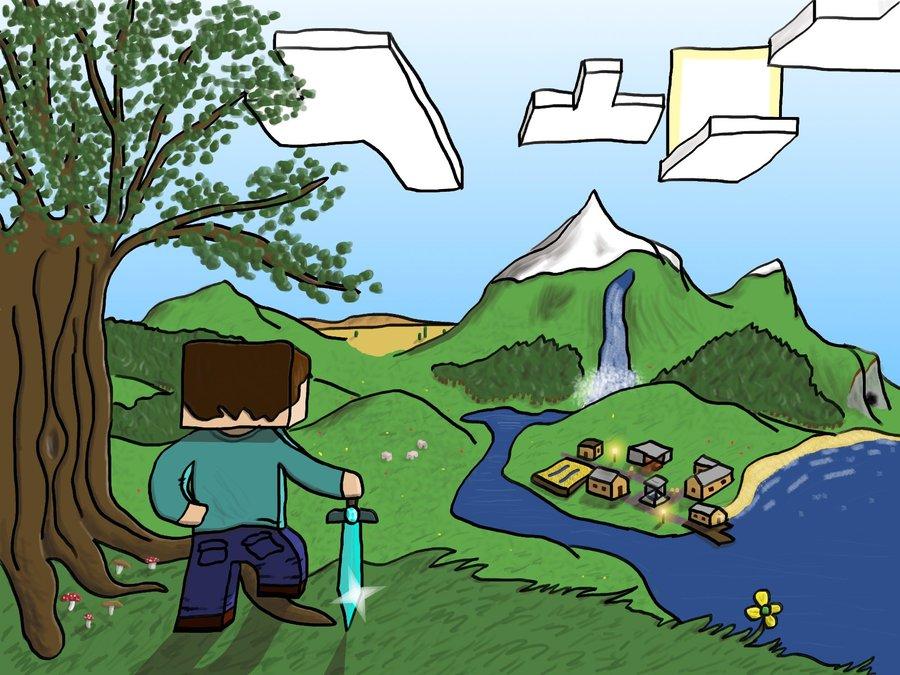 900x675 Minecraft Landscape by HelloImRame on DeviantArt
