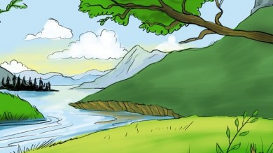 390x219 Landscape Painting Tagged Cartoons