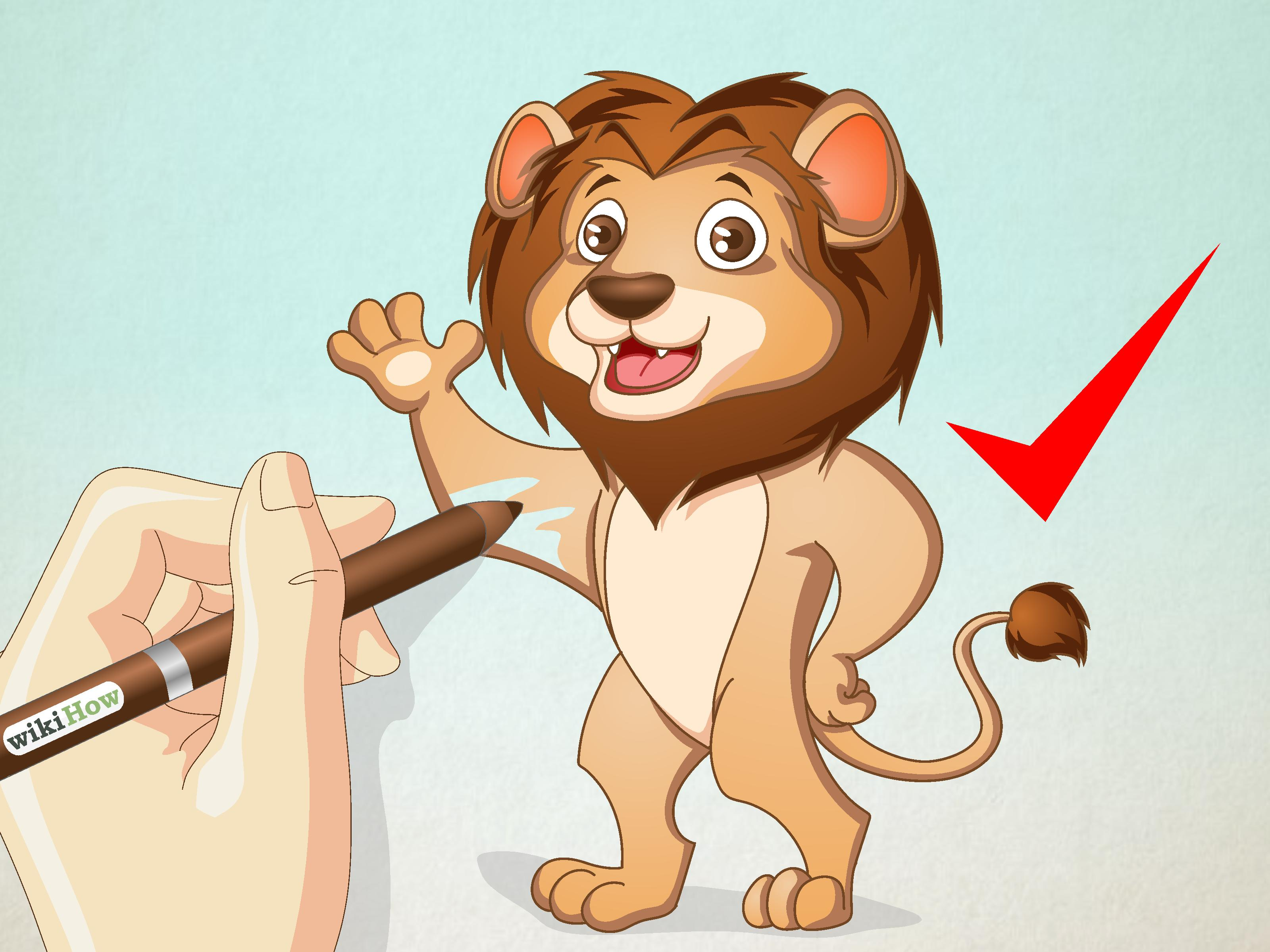 3200x2400 How To Draw A Cartoon Lion 13 Steps (With Pictures)