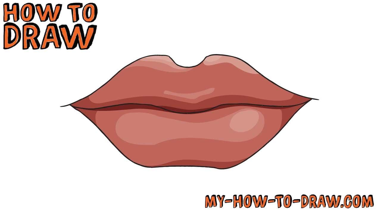 1280x720 Cartoon Lips Drawing How To Draw Lips