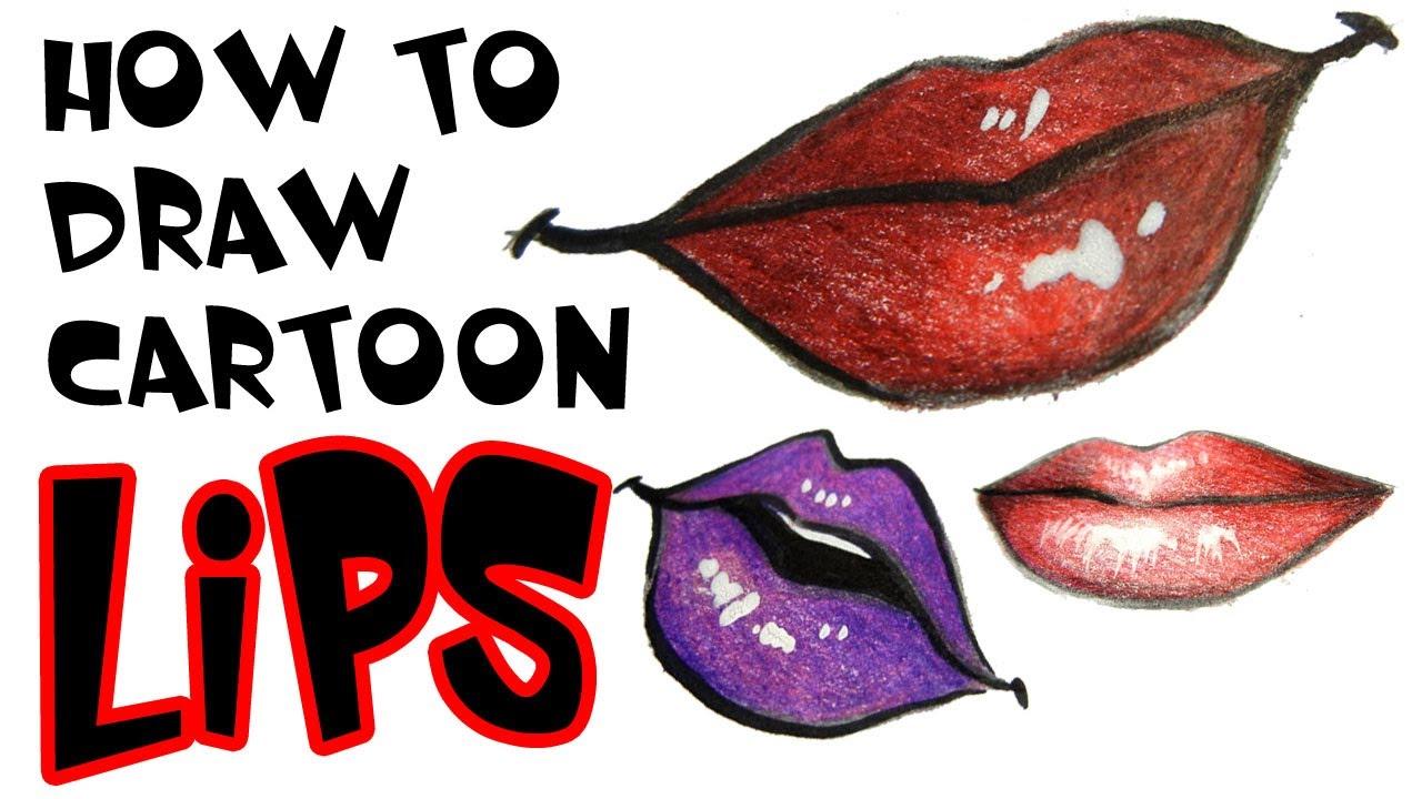1280x720 How To Draw Cartoon Lips