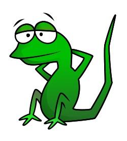 250x277 Drawing A Cartoon Lizard