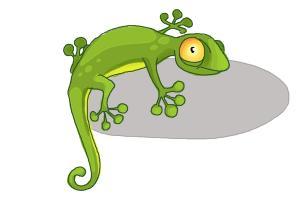 300x200 How To Draw A Cartoon Lizard