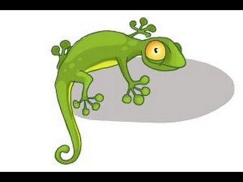 480x360 How To Draw A Cartoon Lizard
