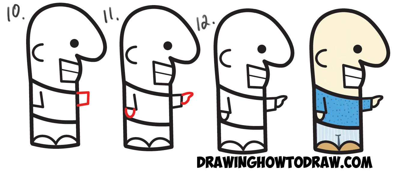 1315x570 how to draw cute cartoon man from semicolon easy stepbystep