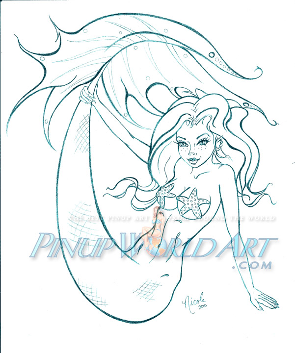 601x720 Mermaid Cartoon By Nicolebrune