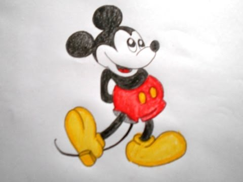 Cartoon Mickey Mouse Drawing At Getdrawings Com Free For Personal
