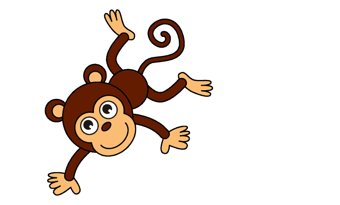 Superb 662x400 Gallery Cartoon Monkey Drawings,