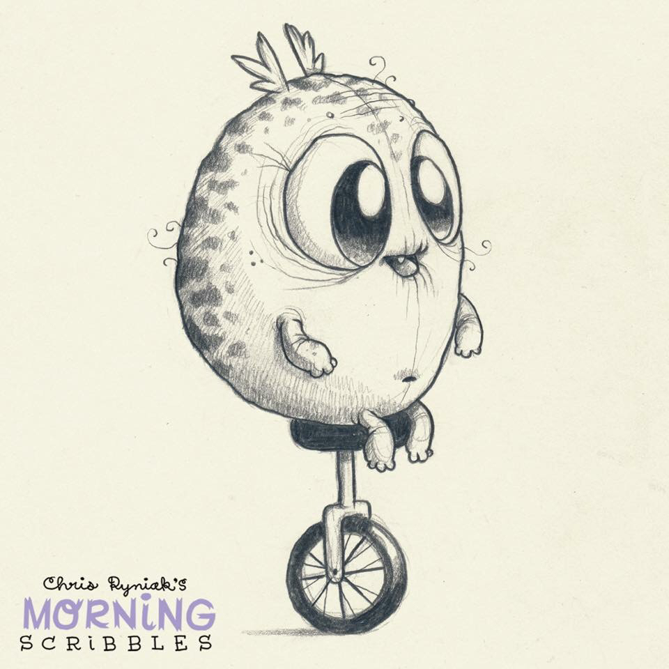 960x960 Chris Ryniak Morning Scribbles Monsters, Drawings