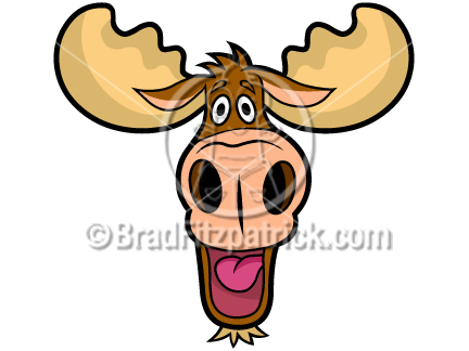 432x324 Cartoon Moose Head Clip Art Moose Head Graphics Clipart Moose