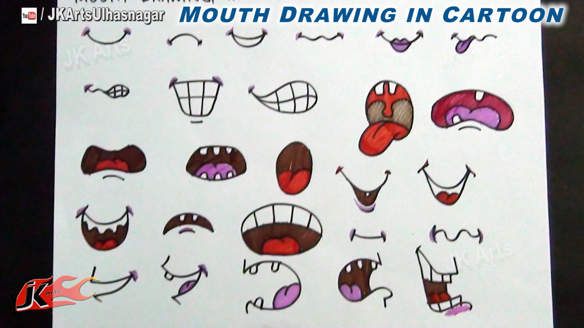 1920x1080 diy animecartoon mouth how to draw jk arts 716