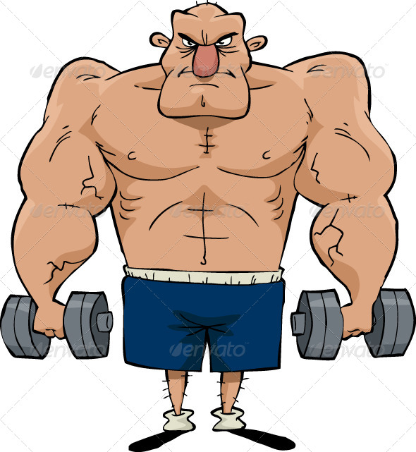 590x641 Man Of Muscle Muscles, Big Men And Vector File